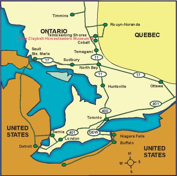 Museum location in Ontario